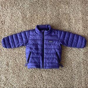 Patagonia purple kids puffer jacket